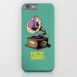 Old but gold, gramophone vintage vinyl turntable, perfect djs gift iPhone Case