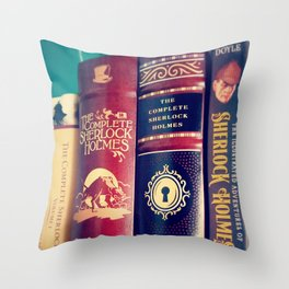 Library of Sherlock Holmes Throw Pillow