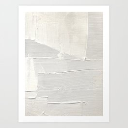 Relief [1]: an abstract, textured piece in white by Alyssa Hamilton Art Art Print