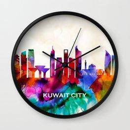 Kuwait City Skyline Wall Clock