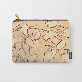 "Katsushika Hokusai ""Cranes from Quick Lessons in Simplified Drawing"" (1823)(original) Carry-All Pouch"