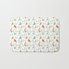 Birds Doodle – Pattern for Childrens and Baby Room Bath Mat