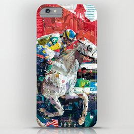 Abstract Race Horses Collage                                         iPhone Case