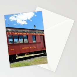 Red Railroad Car - Cumbres And Toltec Stationery Cards