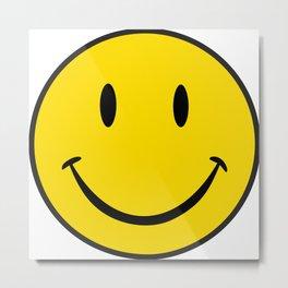 Smiley Happy Face Metal Print