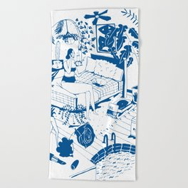 Party II Beach Towel