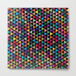 Triangles Mosaic Pattern Metal Print