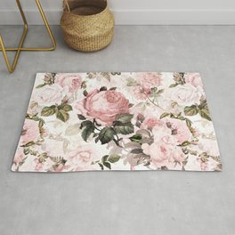 Vintage & Shabby Chic - Sepia Pink Roses  Rug