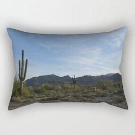 White Tank Mountain Rectangular Pillow