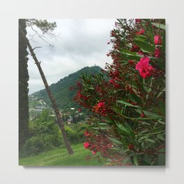 The Flowers Mountain Metal Print