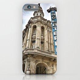 Hotel Inglaterra Street Corner, Havana, Cuba iPhone Case