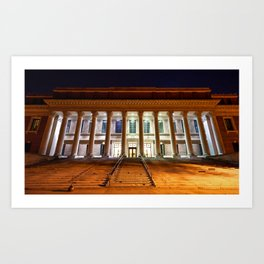 Harvard Library - Boston Art Print