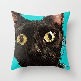Kismet Kitty Throw Pillow