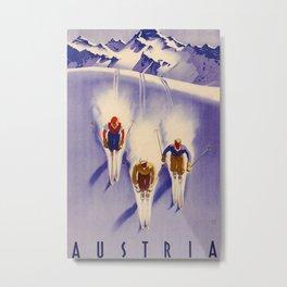 Austria Vintage Travel Poster Metal Print
