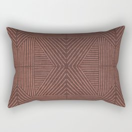 Terracotta clay lines - textured abstract geometric Rectangular Pillow