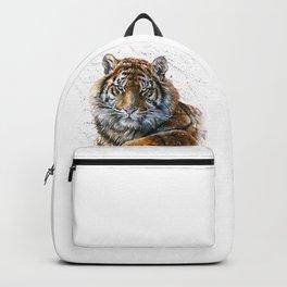 Tiger watercolor Backpack