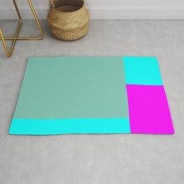 Touch of Hot Pink Test Pattern #minimal #buyart Rug