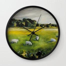 Irish Sheep Wall Clock