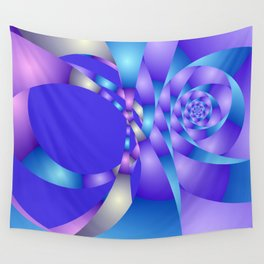 blue violet pattern -3- Wall Tapestry