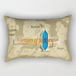 Warriors of the Crystal World Map Rectangular Pillow