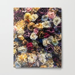 Flower Wall // Full Color Floral Accent Background Jaw Dropping Decoration Metal Print