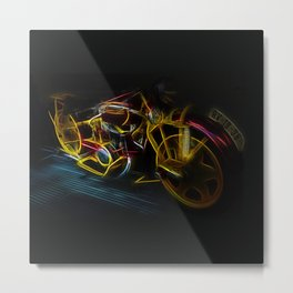 Fractal motorcycle Metal Print
