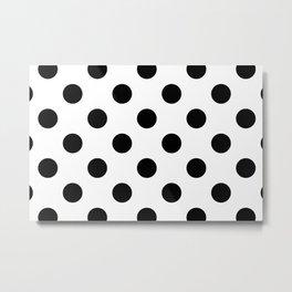 Black and White Polka Dot Metal Print