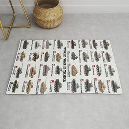 World War II Tanks Rug