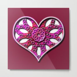 Raise Heart Valentine Metal Print