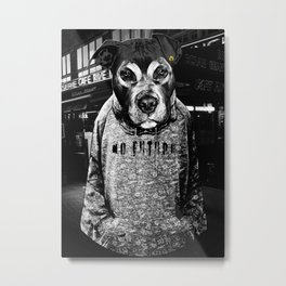 Dog in the City Metal Print