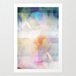 Gamma - Contemporary Geometric Circles Art Print