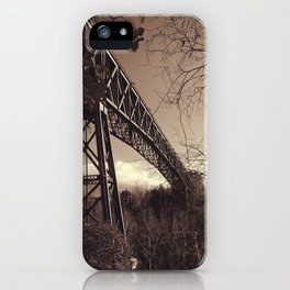 The mistery bridge. Retro iPhone Case