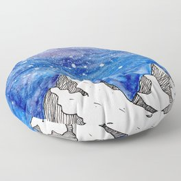 Watercolour mountains Floor Pillow