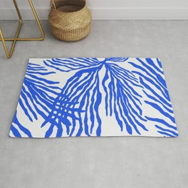 Electric Blue Coral Rug
