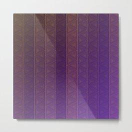 Triangular Gradient Metal Print