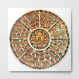Mandala Buddhist Shambala 32 Metal Print