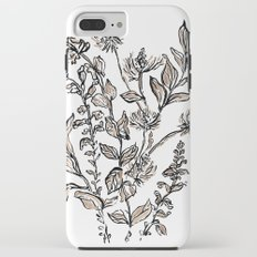 Inky Metallic Botanicals iPhone 8 Plus Tough Case