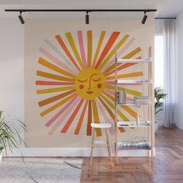 Sunshine – Retro Ochre Palette Wall Mural