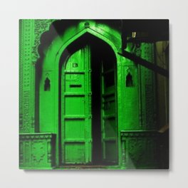 In the Dark Back Allies Secret Doorway Metal Print
