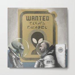 Wanted Metal Print