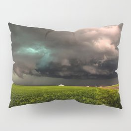May Thunderstorm - Twisting Storm Over House in Colorado Pillow Sham