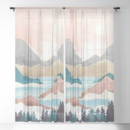 Lake Sunrise Sheer Curtain