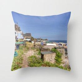 Budleigh Beach  Throw Pillow
