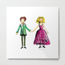 Princely couple 1 Metal Print