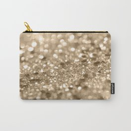 Champagne Gold Lady Glitter #2 #shiny #decor #art #society6 Carry-All Pouch