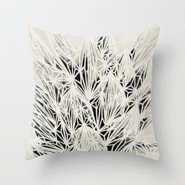 H. Fasciata Succulent Black White Print Throw Pillow
