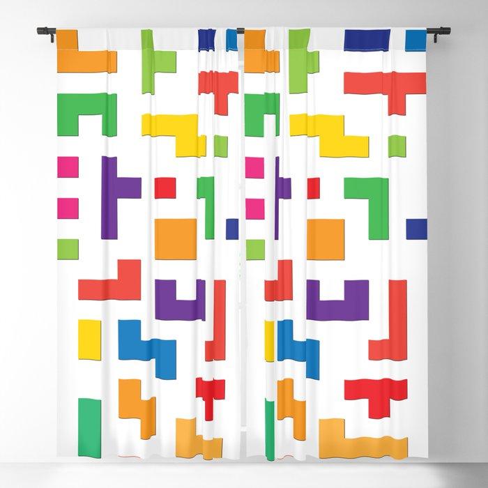 Tetris Blocks Blackout Curtain
