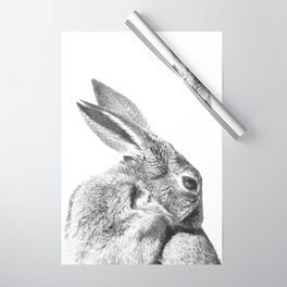 Black and white rabbit Wrapping Paper