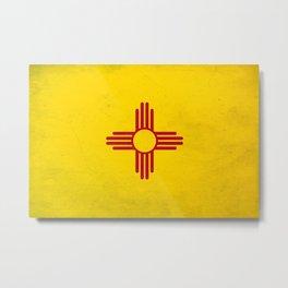 new Mexico flag - vintage look  Metal Print