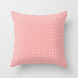 Classic Light Pink Polka Dot Spots on Blush Pink Throw Pillow